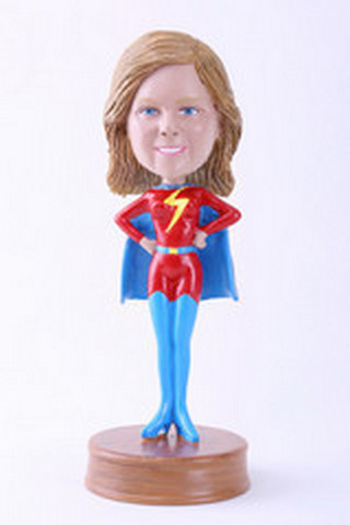 Super girl 9 custom bobblehead doll Premium