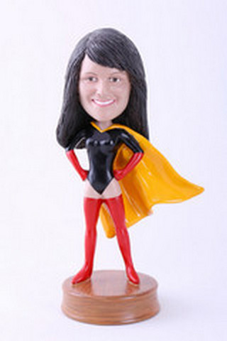 Premium super girl 1 custom bobblehead doll