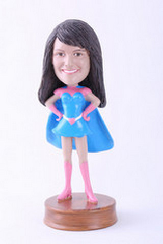 Premium super girl 6 custom bobblehead doll