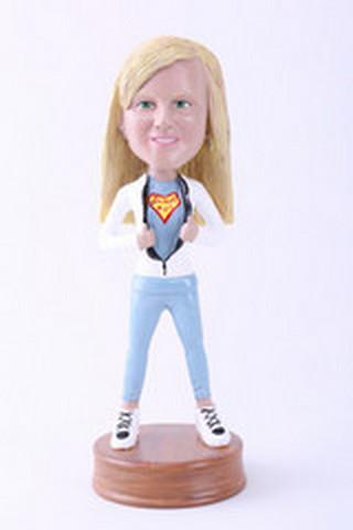 Premium super girl 7 custom bobblehead doll