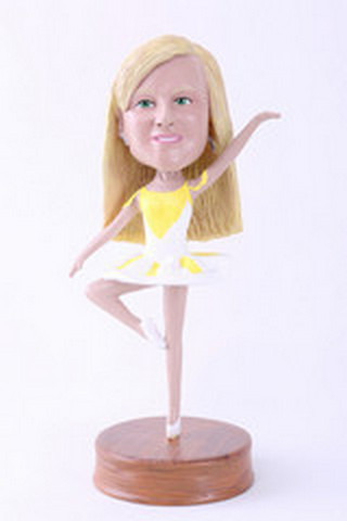 Girl dancer custom bobblehead doll Premium