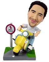 Scooter custom bobblehead doll