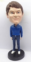 Casual Male in jeans custom bobblehead doll