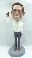 Supervisor Man on phone personalized bobblehead doll3
