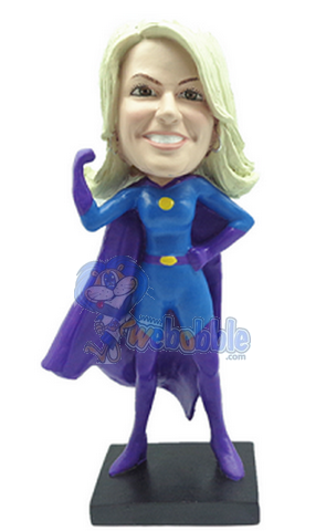 Premium Super Girl custom bobblehead doll 2