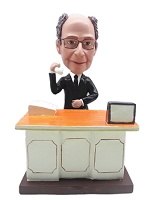 Executive at desk custom bobblehead doll  2