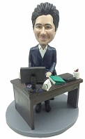 Executive at desk custom bobblehead doll  3