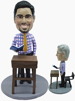 Executive at desk custom bobblehead doll  4