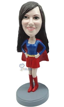 Premium Super Girl custom bobblehead doll 5