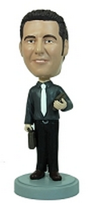 Professional / briefcase / books custom bobblehead doll