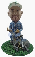Premium male deer hunter custom bobblehead doll