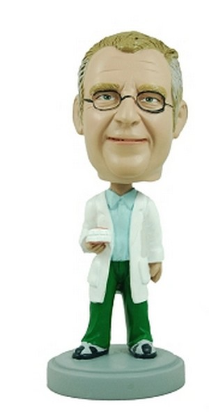 Dentist custom bobblehead doll   - Holding Teeth