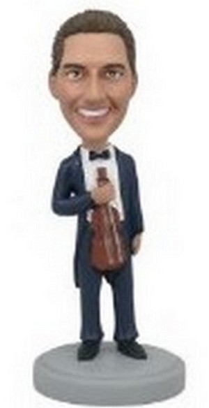 Violin Music custom Bobble Head