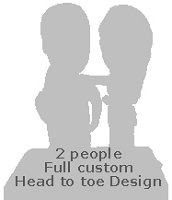 Full Custom Bobble Head - Couple (Bobbing )
