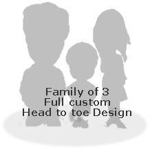 Full custom bobblehead doll   - Family of 3
