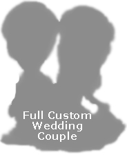 Full Custom Bobble Head - Wedding Couple (Bobbing )