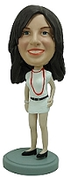 Custom Bobble Head Female Casual In Shorts | Gifts For Women