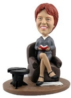 Dignified Office Lady custom bobblehead doll