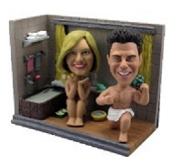 Custom Bobble Head Couple | Funny Bathroom Scene Bobble Head