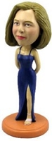 Custom Bobble Head Formal Bridal Dress Exposed Leg | Gifts For Women