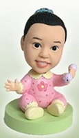 Baby Girl custom bobblehead doll