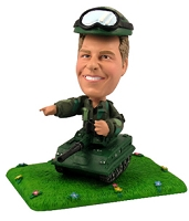 Army Tank And Soldier Personalized Bobble Head | Gift Ideas For Men