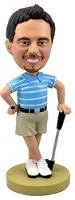 Relaxing Golfer custom bobblehead doll
