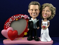 Sporty Love Story Frame With Couple Personalized Bobble Head | Gift Ideas For Couples
