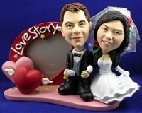 Wedding Custom Bobble Head With Frame  | Gift ideas for weddings