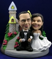 Wedding Custom Bobble Head With Castle  | Gift ideas for weddings