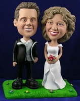 Wedding Couple (Sporty) Custom Bobble Head | Gift ideas for weddings