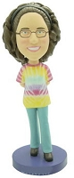 Custom Bobble Head Hippy Girl - Tie Dye Personalized Bobble Head | Gifts For Women