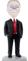 Man With Hands In Pocket Red Tie Custom Bobble Head | Gift Ideas For Men