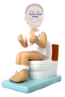 Man On Toilet - Custom Bobble Head | Gift Ideas For Men