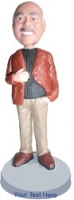 Business casual sporting a jacket and fashion pose custom bobblehead doll