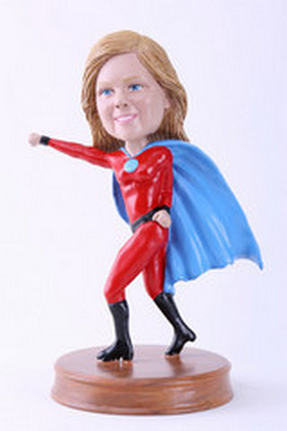 Super girl 8 custom bobblehead doll Premium (bobbing doll)