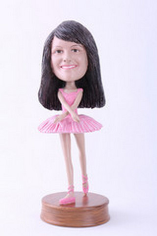 Girl dancer custom bobblehead doll 2 Premium