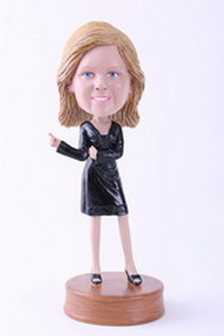 Girl office custom bobblehead doll Premium (bobbing doll)