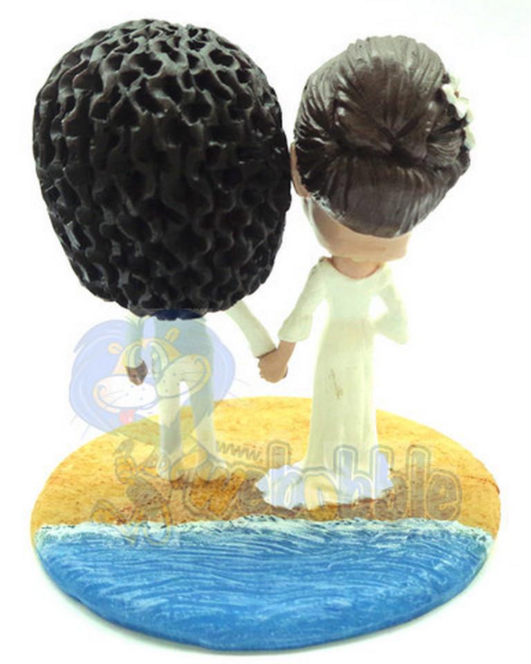 Same Sex Wedding Couple Custom Bobble Head At The Beach
