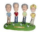 Golf Set of 4 custom bobblehead doll