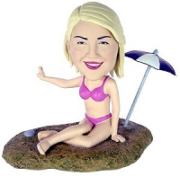 Custom Bobble Head Girl At Beach| Gifts For Women