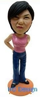 Casual Dress Lady custom bobblehead doll