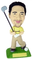 Golf custom bobblehead doll