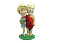 Yabba Dabba Doo Couple Custom Bobble Head | Gift Ideas For Couples
