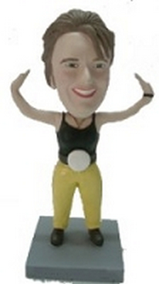 Female Wrestler Champ custom bobblehead doll