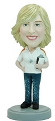 Female Coach custom bobblehead doll