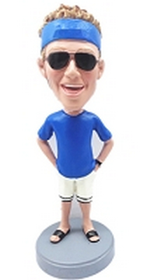 Man in shorts custom bobblehead doll