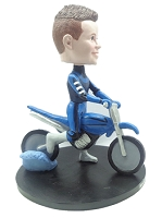 Man on Dirt Bike custom bobblehead doll
