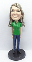Casual Female custom bobblehead doll 1