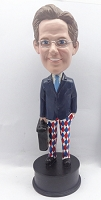 Custom Bobble Head Man With Briefcase 4 | Gift Ideas For Men
